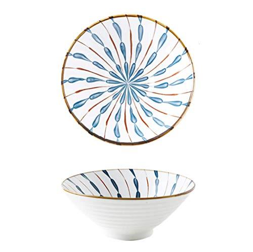 JUNGEN Japanische Ramen Schüssel 950 ml Ramenschüssel aus Keramik Große Suppenschüssel Suppenschalen Vintage Ramen Bowl Salatschüssel für Müsli Udon Soba Pho Asiatische Nudeln Pasta