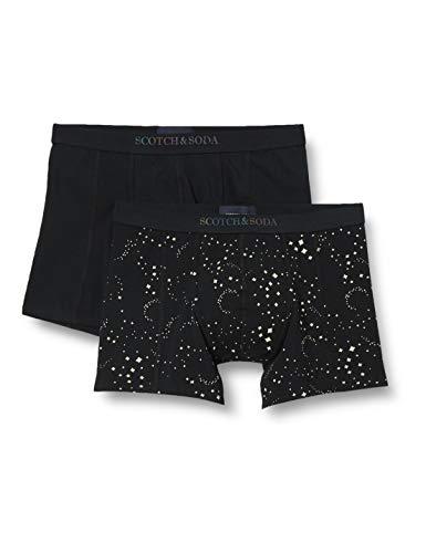 Scotch & Soda Herren Reflektierende Boxershorts aus Baumwolle im 2er-Pack Boxer Shorts, Combo C 0219, XXL