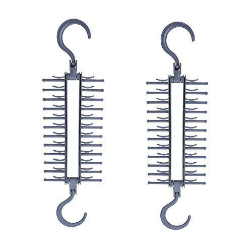 Wonder Hanger MAX Tie Hanger Patented TRADEMARKED Tie Hanger for Closet Organization Easy Tie Storage Closet Organizer for Men and Women Grey