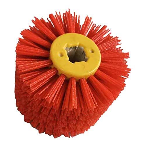 PETSOLA Satinierwalzen/Nylonbürste, Körnung 80/240, Durchmesser 120 mm, Bürstenschleifer/Schleifbürste - Rot Körnung 80