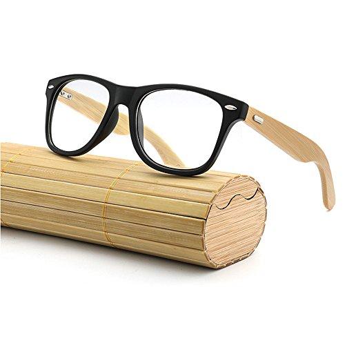 Occhiali Da Sole Da Donna Vintage,New Bamboo Occhiali da sole legno legno Mens Womens Retro Vintage Summer Glasses,Occhiali da sole da uomo
