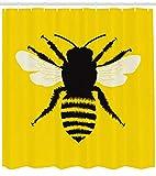 Gothic #90 Tenda da Doccia Queen Bee Stampa a Nido d'Ape Silhouette per Accessori Bagno Ba...