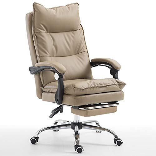 DFMD bureaustoel, comfortabele spons, massagebank met draaistoelen, modieus, voor woonkamer, slaapkamer, kantoor, computer, woonkamer, zwart, amber