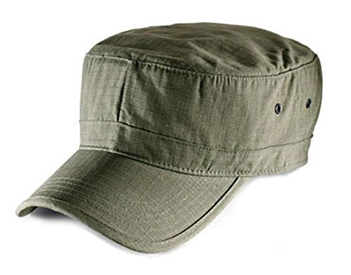 Atlantis Army Military Cap Ripstop Cotton - Green - OS