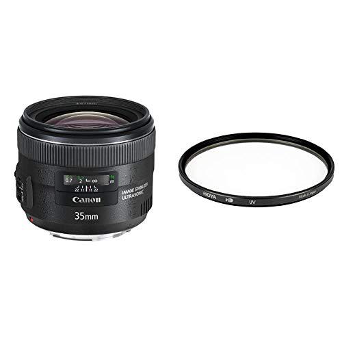 Canon Objektiv EF 35mm F2 is USM für EOS (Festbrennweite, 67mm Filtergewinde, Bildstabilisator) schwarz & Hoya HD UV Filter 67mm