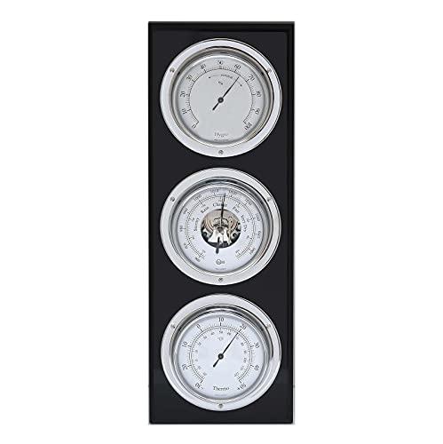 Barigo Estación Meteorológica barómetro termómetro higrómetro vertical cromado