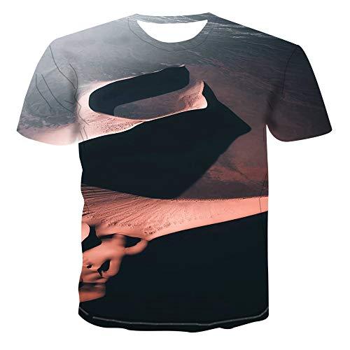 Nobranded - Camiseta de manga corta con impresión 3D y cuello redondo para hombre Foto A Colori 6XL