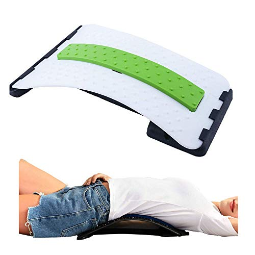 Femcery Back Stretching Device,Back Massager for Bed Chair Car Yoga,Multi-Level Lumbar Support Stretcher Spinal, Lower and Upper Muscle Pain Relief