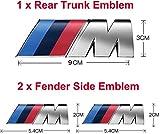 3pcs fit BMW M Power Badge Metal Tri Color Emblem Sticker,Car Rear Trunk Fender...