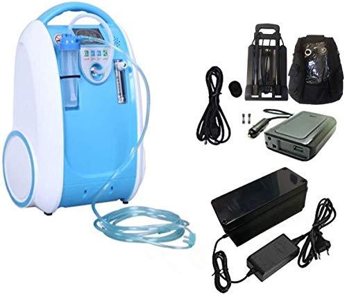 Concentrador de oxígeno Generador Cuidados en el hogar Inhalador de oxígeno Uso con batería Uso de viaje Máquina de oxígeno 1-5L / min