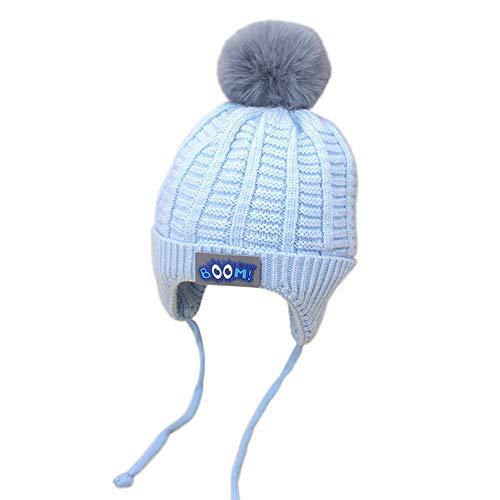 Bonnet Bébé, Mamum Garçons Fille Bébé Hiver Chaud Cap Chapeau Bonnet Chat Crochet Earflap Chapeaux Déguisement (bleu)
