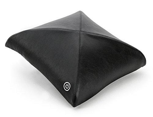 Zyllion ZMA-20 Luxury Shiatsu V-Spring Massage Pillow with Heat (Black)- One Year Warranty