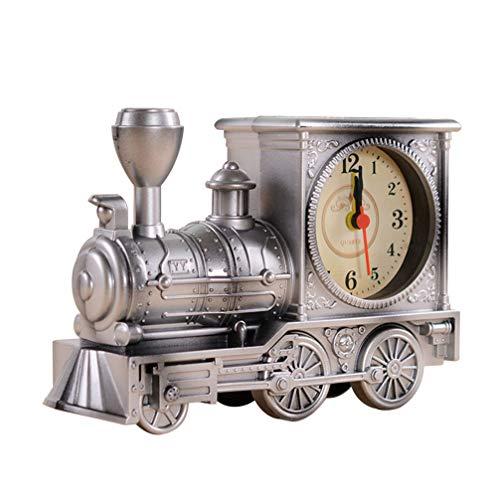 BESPORTBLE Dampflok Zugform Vintage Retro Wecker Altmodische Klassische Wecker Silber