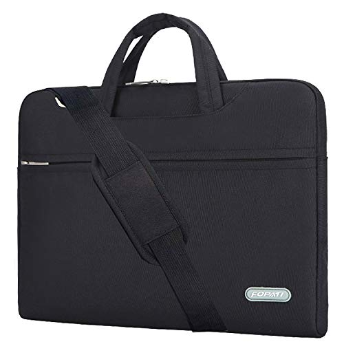 YOUPECK 11.6 11 inch Laptop Case, Laptop Shoulder Bag, Waterproof Notebook Sleeve, Carrying Case With Strap for Chromebook Macbook HP Stream Samsung Acer Asus Dell Lenovo Tablet, Black