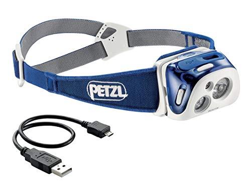 Petzl reactik compacto, recargables y inteligente-Linterna frontal con tecnología de Lighting reactiva,...