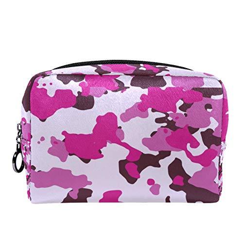 Bolsa de cosméticos Bolsa de Maquillaje para Mujer para Viajar para Llevar cosméticos, Cambio, Llaves, etc. Camo Abstract