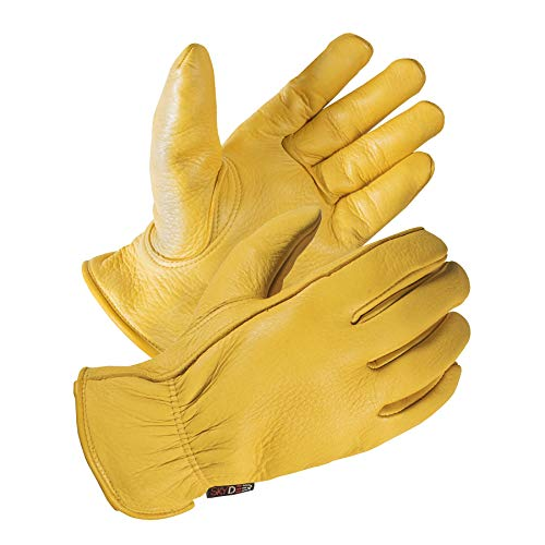 SKYDEER Deerskin Leather Hi-Performance Utility Driver Work Gloves (SD2210/XL)