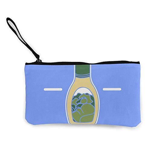 XCNGG Women's Canvas Zip Around Wallet Ladies Clutch Travel Purse Wrist Strap Ranch Dressing Salad Tasty