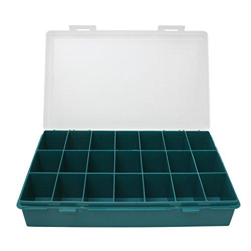 Sortimentskasten mit 21 Fächer für Schrauben und/oder Kleinteile aller aller Art, zb. Muttern, Scheiben oder Anglerzubehör