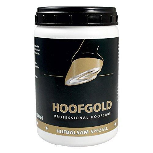 HOOFGOLD Bálsamo especial para pezuñas para caballos, grasa para el cuidado diario de pezuñas contra cascos quebradizos y secos, 1000 ml