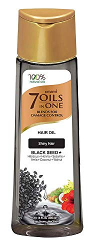 Emami 7 Oils in One Blends For Shiny Hair with Black Seed hair Oil 200ml