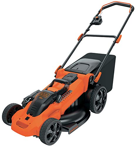 BLACK+DECKER CLMA4820L2-QW Tondeuse sans fil - 7 hauteurs réglables de 38 à 100 mm - 2 Batteries, 36V, Orange, 48 cm