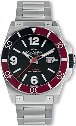 Mondia swiss Master Reloj para Hombre Analógico de Automático Suizo con Brazalete de Acero Inoxidable MS 200-1BK-BM