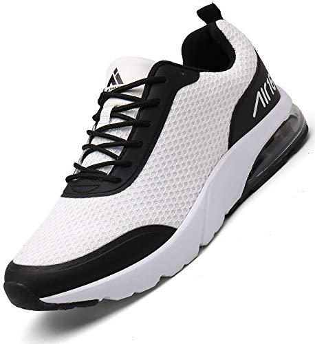 Hombre Aire Zapatillas Trail Running Mujer Deportivas para Caminando Transpirable Antideslizante Sneakers Blanco 40 EU