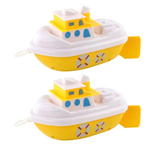 NUOBESTY 2 Stück Bad Spielzeug Baby Schwimmboot Aufziehspielzeug Badezeit Dusche Spielzeug Bad Badewanne Pool Strand Spielzeug für Kleinkinder Kleinkinder Kinder