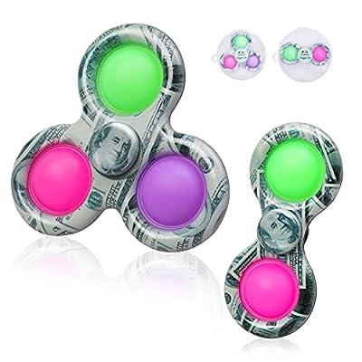 Amazon - 50% Off on  2 Pcs Fidget Spinner Toys, Simple Dimple Fidget Spinner, Fidget Pack