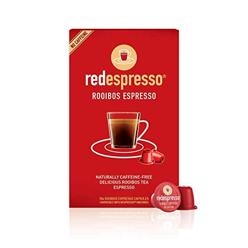 Red Espresso - Te Rooibos (Redbush) (10 Capsulas) - Compatible con Nespresso - Natural - Vegano - Kosher - Sin gluten - Sin azucar