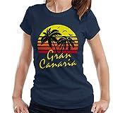 Cloud City 7 Gran Canaria Vintage Sun Women's T-Shirt
