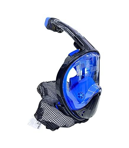 Grupo K-2 Wonduu Máscara de Buceo Cara Completa Negra Talla S/M para Snorkel Hipoalergénica 180º Xy-001