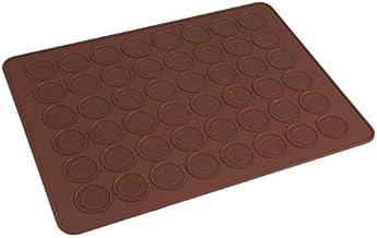 48 Holes Macaron Mat Silicone Cooking Mat Macaron Mold Baking Pastry Baking Mat Sheet Non- Stick Muffin Tray Reusable Bake...