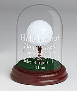 Eureka Golf Products Glass Dome Hole-in-One Trophy-Free Personalization