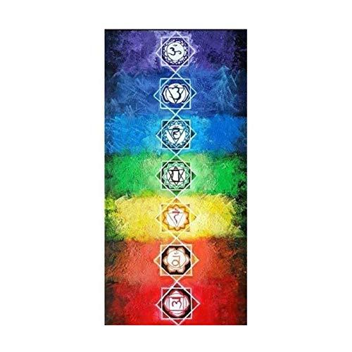 DYB Manta al Aire Libre Toalla de Alfombra de Yoga - 2pc 147x42 / 72 / 147cm Tapiz de tapicería Alfombra de Yoga Bufanda Chal Colorido poliéster Borla Transpirable para la Playa Manta de pla