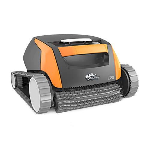 Robot limpiafondos automático Dolphin E20 de Maytronics. Limpiafondos portátil, ligero y fácil de limpiar. Ideal para piscinas enterradas y elevadas