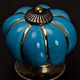 El pastoreo wwd Calabaza Perilla de cerámica de Cocina de cerámica Puerta Armarios Armario HandlesAA, el pastoreo Calabaza LiMinHua (Color : Blue)