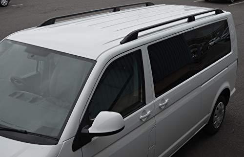 Barras de techo para L2H1 T5 Transporter (2003-15) aluminio negro