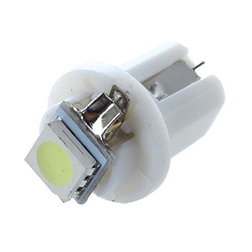 SODIAL 10 pzs T5/B8.5D 5050 SMD LED enchufe Iluminacion Interior tacometro Blanco
