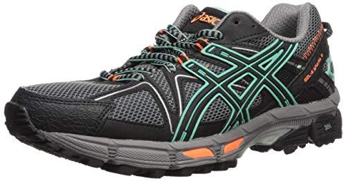 ASICS Womens Gel-Kahana 8 Running Shoe, Black/Ice Green/Hot Orange, 8 Medium US