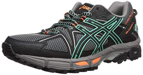 ASICS Women's Gel-Kahana 8 Running Shoe, Black/Ice Green/Hot Orange, 9.5 Medium US