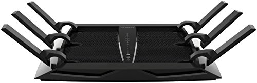 NETGEAR Routeur WiFi Tri-Bandes Nighthawk (R8000), AC3200, 4 Ports Ethernet Gigabit, 2 Ports USB 3.0, jusqu'à 3.2 Gbit s, jusqu'à 300 m² et 50 appareils, Armor contre les Cybermenaces