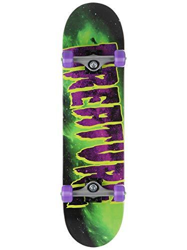 Creature Skateboard Galaxy Logo Mid Factory, 19,8 cm, Grün / Violett