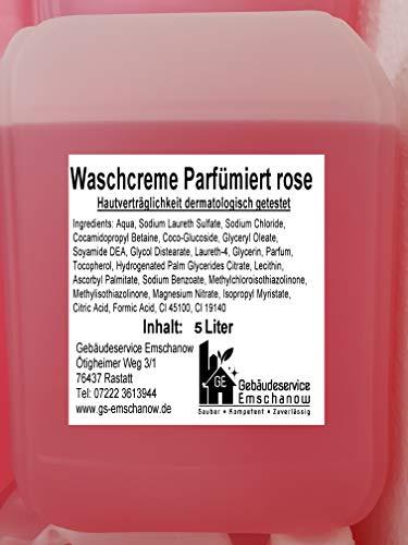 Gebäudeservice Emschanow Handreiniger Creme Flüssigseife Rose 5 L Kanister Waschlotion