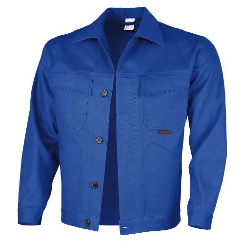 Qualitex Taille Veste de Basic 100% Coton 240 g/m², Homme, Bleu Korn