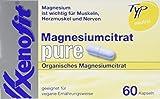 Xenofit MAGNESIUMCITRAT PURE | 60 Kapseln | 150mg Magnesium pro Kapsel | Organisches Magnesiumcitrat | hohe Bioverfügbarkeit | vegan | pflanzliche Zellulose-Kapsel | neutraler Geschmack