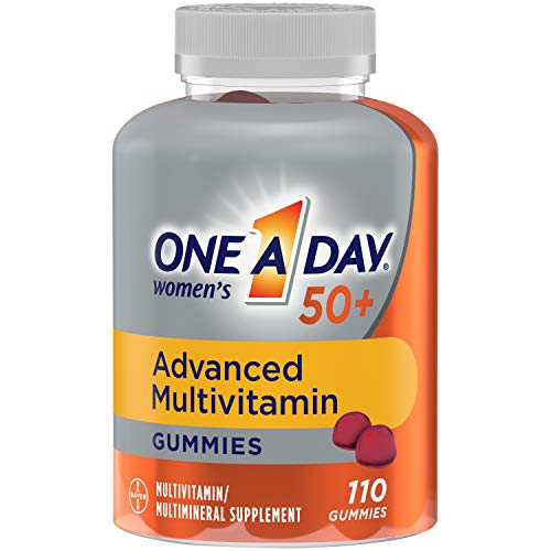 One A Day Women's 50+ Gummies Advanced Multivitamin with Brain Support, Super 8 B vitamin complex, 110 Count