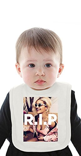 Rita Ora R.I.P Organic Baby Bib With Ties Medium
