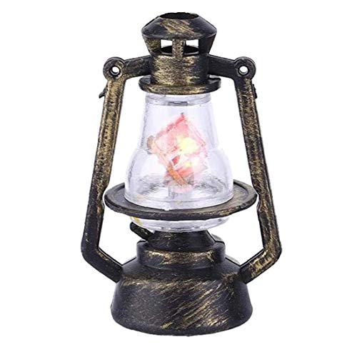 fedsjuihyg Linterna Miniatura Casa De Muñeca De Aceite De La Lámpara Led Simulada Mini De Plástico Accesorios Modelo De Simulación De La Vendimia Muñeca De Juguete para La Casa
